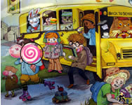 School bus hidden object játék