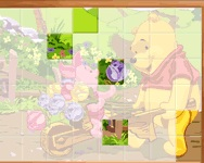 Online Sort My Tiles Pooh and Piglet játék