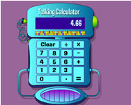 Talking calculator gyerek j�t�kok
